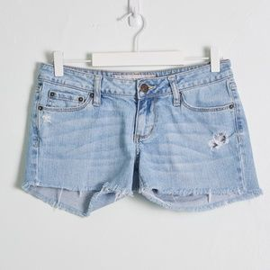 Bullhead Homemade Denim Distressed Cutoff Shorts